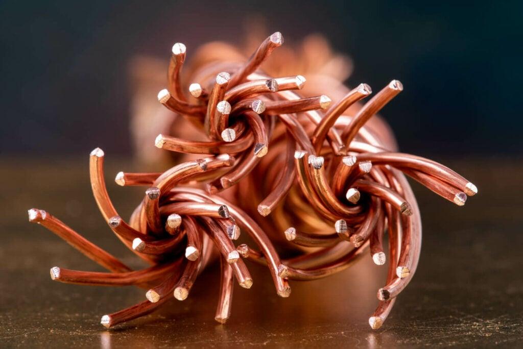 fil de cuivre utilisé dans la fabrication de l'oxyde de cuivre