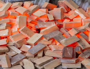 red hot refractory cement bricks